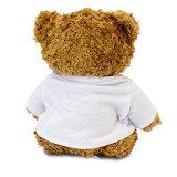 Jouet d'ours de la peluche de Valentine avec le T-shirt