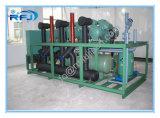 Compresseur à vis refroidi par air trois Rack haute température unité de condensation pour Blast congélateur