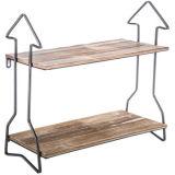 Kundenspezifisches Großhandelspfeil-Holz-u. Metallwand-Regal