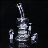 Стеклянная труба Perc барабанчика & сота ясности трубы водопровода куря стеклянная