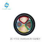 câble d'alimentation de cuivre de PVC Sta de 0.6/1kv 3X150+1X70mm2