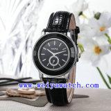 여자 (WY-023E)를 위한 최신 판매 시계 가죽 호화스러운 손목 시계