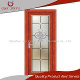 Konkurrenzfähiger Preis-hölzernes Korn-Aluminiumbadezimmer-Tür mit doppeltem Glas