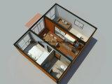 40 pés de casa modular pré-fabricada luxuosa do contentor