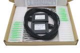黒いカラーによって高耐久化されるSc APC 1X16のABSボックス2.0mmケーブルのファイバー光学PLCのディバイダー