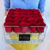 25PCSはバレンタインデーのためのアクリルの花ボックスを取り除く