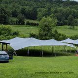 薄い灰色カラー伸張のテント