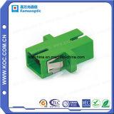 Sc Simplex de una pieza de adaptador de fibra óptica