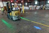 안전 물자 취급 트럭을%s 작동 포크리프트 파란 빛