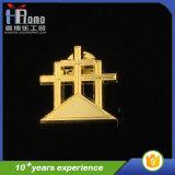 高品質の安い金の銅板の折りえりピン