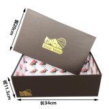 カスタムロゴの光沢のあるボール紙包装ボックス黒いボール紙の靴箱