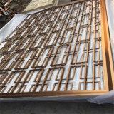 Il metallo dorato curvo del taglio del laser dello schermo dell'acciaio inossidabile seleziona lo schermo del metallo