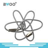 Trenzado Nylon Ligntning cable de datos USB con conector Micro