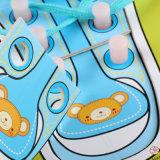 Деревянные Узнайте соединительных Shoelace детей раннего образования Монтессори плата головоломка игрушка