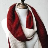 Для женщин и женщин теплой зимы 2 тон трикотажные шаль с POM POM (SK161)