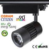 a ESPIGA do cidadão do diodo emissor de luz Tracklight de 15W 90+Ra com Osram Não-Cintila adaptador global do excitador