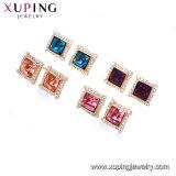 Xuping kupferne handgemachte Nachahmung CZ verzieren Ohrring-Kristalle von Swarovski