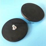 Сильный бак магнита неодимия с приспособления панели резины основанием установки Coated СИД магнитным