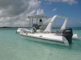 Barcos infláveis Liya Sombrio 660 profunda V costela casco de fibra de vidro