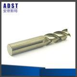 Laminatoio di estremità di alluminio Carbide3 scanalatura solida per gli utensili per il taglio