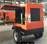 Groupe électrogène diesel de tour d'éclairage avec deux roues