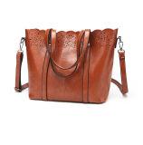 女性ハンドバッグPUの革女性袋の花はくり抜く袋(WDL0862)を