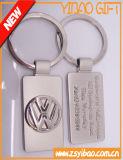 Couro de metal personalizado Keyring com o carimbo com o logotipo do Carro (YB-LC-10)