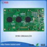 Syb128X64 AV20 Grafische Witte Background128*64 de Grootte LCD LCM van 3.2 Duim