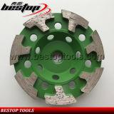 Форма t делит на сегменты колесо чашки диаманта разъема M14 меля