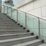 Sistema de pasamano de cristal al aire libre y de interior con servicio modificado para requisitos particulares