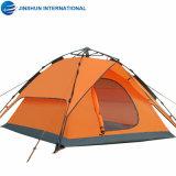 Double couche extérieure imperméable 3-4 personne tente de camping en plein air de famille Auto tente de toit