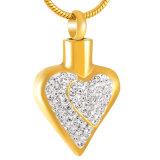 方法女性のClear&Pinkの水晶火葬のネックレスの壷の宝石類