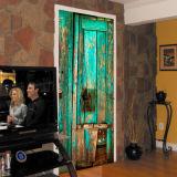 Etiquetas engomadas creativas de la pared de los murales del papel pintado de la puerta 3D para las etiquetas retras de la puerta del arte de la decoración casera
