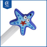 Stylo bille en plastique de dessin animé de forme mignonne en gros d'étoiles de mer pour l'école