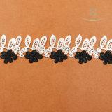 Guarnizione della frangia del merletto della nappa per gli indumenti compreso colore in bianco e nero
