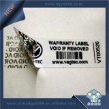 Escritura de la etiqueta vacía evidente del pisón del holograma de la impresión del número de la seguridad