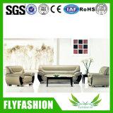 Sofa moderne de cuir de meubles de bureau réglé (OF-08)
