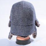 Шлем зимы крышки Earflaps изготовленный на заказ пасмурных шерстей напольный