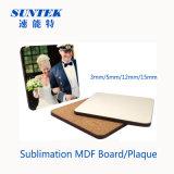 Placa em branco do MDF da espessura do Sublimation 5mm de China para a impressão do calor