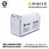 Bateria solar do ciclo profundo recarregável da bateria 12V 90ah do gel