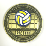 moneta del ricordo d'ottone di marchio di pallavolo 3D vecchia da vendere
