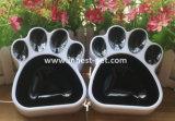 De poot-Vorm van het Product van het Punt van de Hond van de Levering van het huisdier de Plastic Kom van de Hond van de Kat