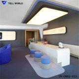 Qualidade superior de pedra artificial de mobiliário de escritório Contador Dianteira de recepção