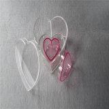 De aangepaste Waterdichte Acryl Verpakking van de Vorm van het Hart voor Bloemen