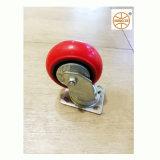 Rouge Mingze PU sur roulettes en fonte avec couvercle étanche anti-poussière /5  Roulette polyuréthane/125*50mm machines gigognes pivotant Heavy Duty/rigide en acier inoxydable ou galvanisé