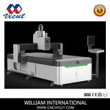 La faucheuse à plat numérique avec appareil photo CCD et l'Allemagne Couteau oscillant CNC Router Machine