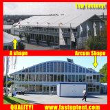 Grande tenda bianca della tenda foranea del doppio ponte per approvvigionamento esterno