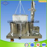 Pd1000 Filter van de Mand van de Extractie van de Ethylalcohol van de Olie van de Hennep Cbd van de Capaciteit van de Zak van de Lift van de Reeks centrifugeert de Vlakke Grote Industriële Separator