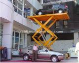 Der einzelne hydraulische Keller Scissor Parken-Auto-Heber