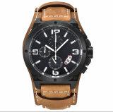 Design exclusivo Fashion homens Dive 100m Sport Couro Militar Relógios de quartzo de marcação de grandes dimensões ver